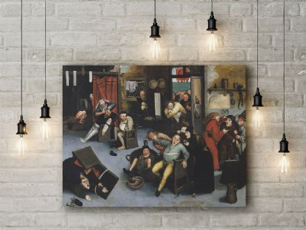 Pieter Bruegel: Cutting out the Stone of Madness or an Operation on the Head. Fine Art Canvas.